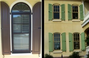 Paneled Shutters for Arched Windows
